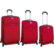 Ford Ford Focus Series 3 Piece Expandable Luggage Set; Red