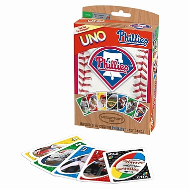 Fundex Games MLB UNO Card Game; Philadelphia Phillies