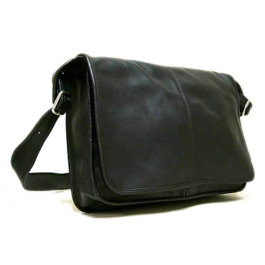 Le Donne Leather Messenger Bag; Black