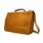 Le Donne Leather Twist Briefcase; Tan