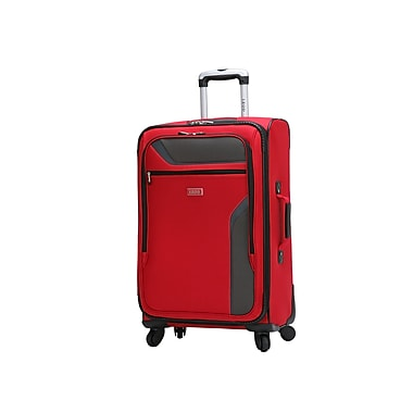 IZOD Journey 3.0 24'' Spinner Expandable Carry-On Suitcase; Red