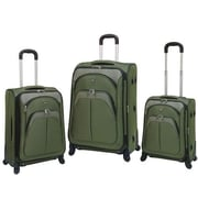 Travelers Club Lexington 3 Piece Expandable Spinner Luggage Set; Green