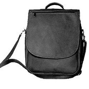 David King Expandable Vertical Backpack; Black