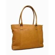 Le Donne Leather Women's Laptop Tote Bag; Tan
