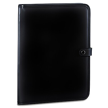 Jack Georges Milano Letter Size Writing Pad with Snap Closure; Black