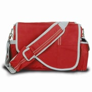 SailorBags Messenger Bag; True Red with Grey Trim
