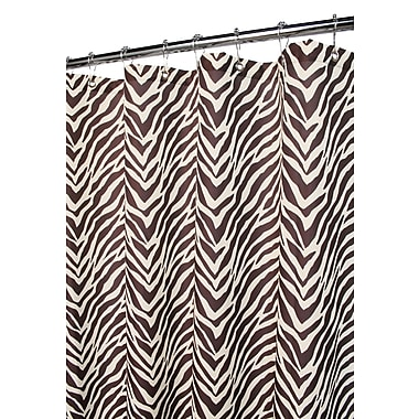 Watershed Prints Zebra Shower Curtain; Natural / Coffee