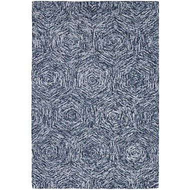 Chandra Galaxy Blue Area Rug; 5' x 7'6''