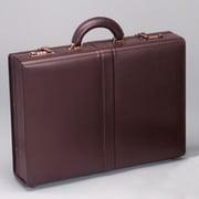 Winn International Top Grain Extended Edge Leather Attache Case; Brown