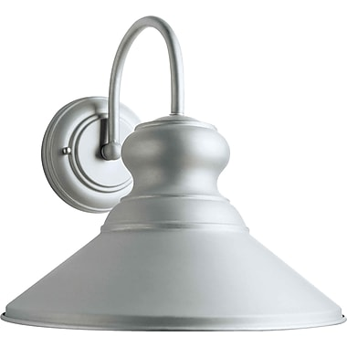 Forte Lighting 1 Light Outdoor Barn Light; Brushed Nickel / 11.25'' H x 11.25'' W x 12'' D
