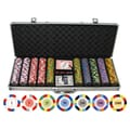 JP Commerce 500 Piece Classic Clay Poker Chips Set