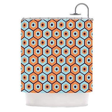 KESS InHouse Busy Shower Curtain