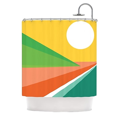 KESS InHouse Beach Shower Curtain