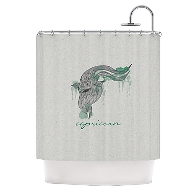 KESS InHouse Capricorn Shower Curtain