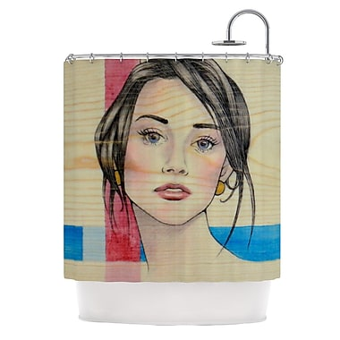 KESS InHouse Face Shower Curtain