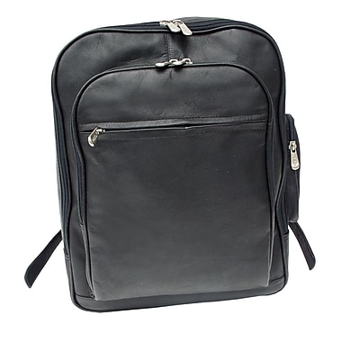 Piel Entrepeneur Front-Pocket Computer Backpack; Black