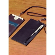 Winn International Cowhide Leather Security Wallet; Black