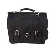 Piel European Laptop Briefcase; Black