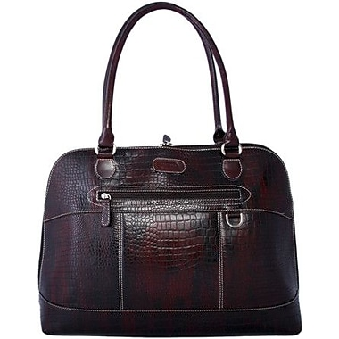Leatherbay Brush off-Croc Laptop Case Tote Bag