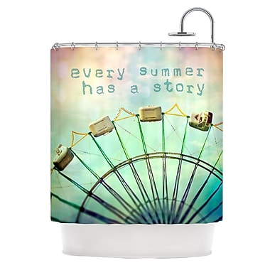 KESS InHouse Every Summer Has a Story Shower Curtain