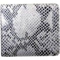 Leatherbay Italian Leather Snake Print Bi-Fold Wallet
