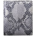 Leatherbay Italian Leather Snake Print Large Bi-Fold Wallet