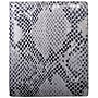 Leatherbay Italian Leather Snake Print Large Bi-Fold Wallet
