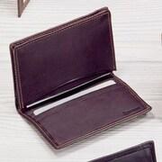 Winn International Black Cowhide Nappa Supple Leather Two Fold Business Card Case II