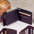 Winn International Cowhide Nappa Leather Passcase Wallet; Black