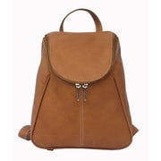 Piel U-Zip Flap Backpack; Saddle