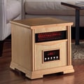 Dynamic Infrared Dynamic 4 Quartz Element 1,500 Watt Infrared Cabinet Space Heater; Light Oak