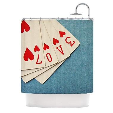 KESS InHouse Love Shower Curtain