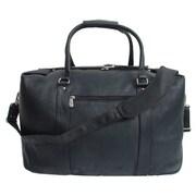 Piel 20'' Leather European Carry-On Duffel; Black