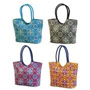 Cypress Calypso Beach Bag with Luxury Webbing Handle (Set of 4)