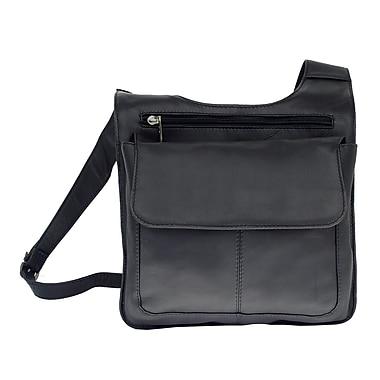 Piel Fashion Avenue Slim Line Mail Bag; Black