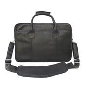 Piel Simple Portfolio Briefcase; Black