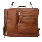 Piel Traveler Executive Expandable Garment Bag; Saddle