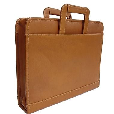 Piel Three-Ring Binder Briefcase; Saddle