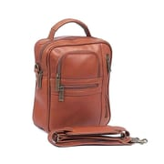 Claire Chase Medium Man Shoulder Bag; Saddle