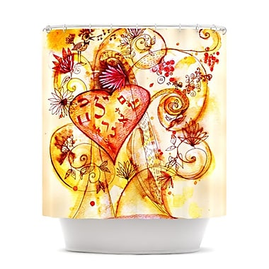 KESS InHouse Tree of Love Shower Curtain