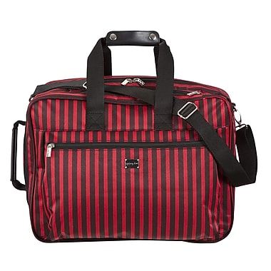 Sydney Love Stripe 13.75'' Convertible Carry On; Black / Red