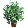 Nearly Natural Silk Bamboo Palm Floor Plant in Decorative Vase