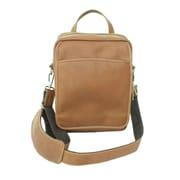Piel Traveler Messenger Bag; Saddle