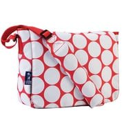 Wildkin Ashley Big Dot Kickstart Messenger Bag; Red