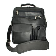 Piel Adventurer Messenger Bag; Black
