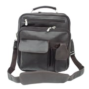 Piel Adventurer Messenger Bag; Chocolate
