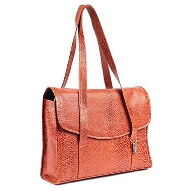 Claire Chase Belize Computer Tote Bag; Brown