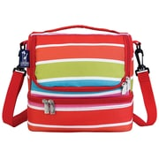 Wildkin Ashley Bright Stripes Double Decker Lunch Bag