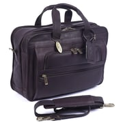 Claire Chase Guardian Leather Laptop Briefcase; Caf