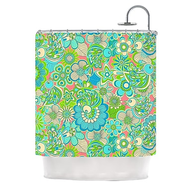 KESS InHouse Welcome Birds To My Garden Shower Curtain